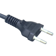 Brazil two flat pin power cord sets