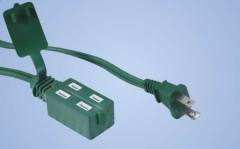 Indoor Cube Tap 2-conductor extension cord