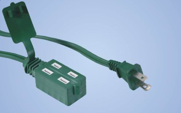 Indoor Cube Tap 2-conductor extension cords