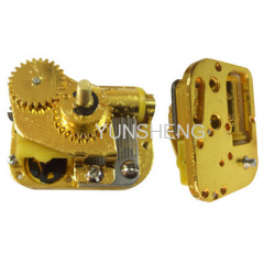 Golden Mini Musical Movement Center Rotary Shaft