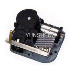 Open-On Close-Off Steel Plate Stopper Music Boxes 18 Note Clockwork Mechanisms