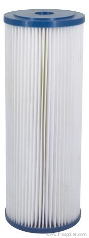 Pleated cellulose cartridge