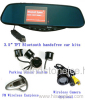 Car Bluetooth Handsfree Rearview Mirror