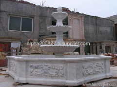 large marble water fountains