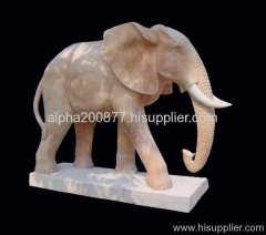elephant statue marble animal