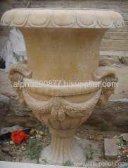 garden flowerpot marble carved urn