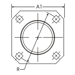 4-Bolt Hole Square Self-Aligning Mounting Flange