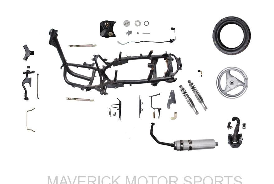 YY50QT-12 frame parts