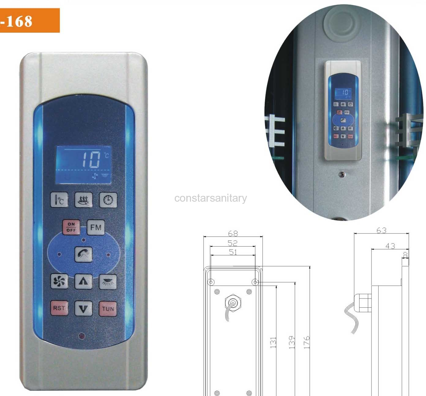 Water Control Panel MK-168 Manufacturer From China