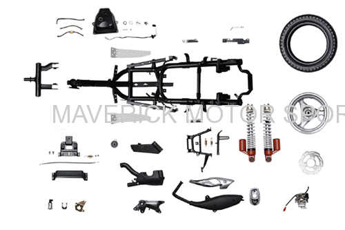 50cc scooter frame parts