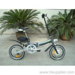 alloy folding ebike
