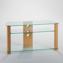wood glass Tv rack