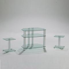 glass LCD TV furniture