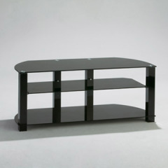 tempered glass TV console
