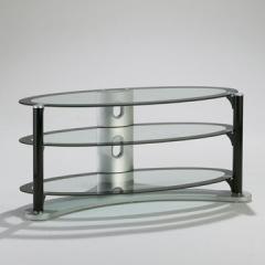 black LCD stand shelf