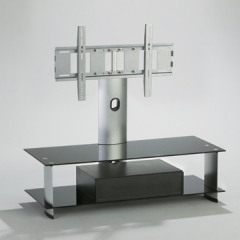 wooden glass TV stand