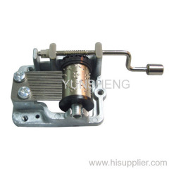Standard Size Hand Crank Musical Movement