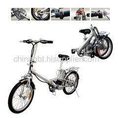 folded electric bike