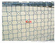Double loop decorative fence structure