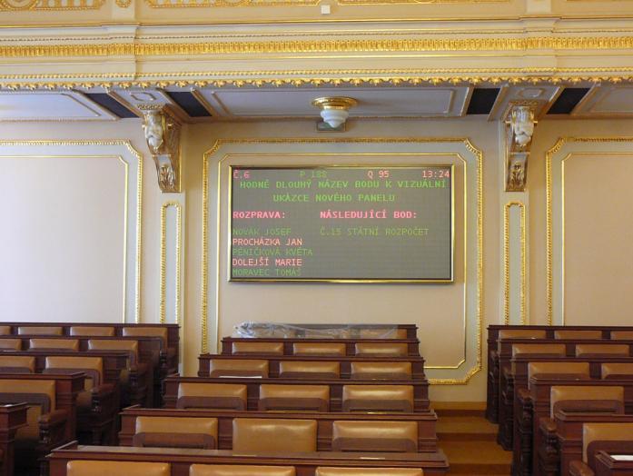 bicolor indoor display
