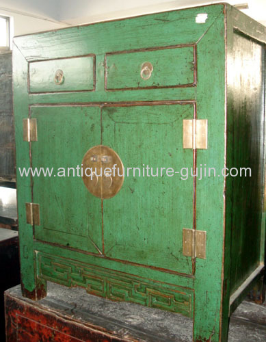 China Antique Green Cabinet