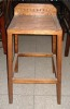 elm wood tall bar stool