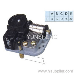 Switch Feature Spring Power Music Box Mechanism