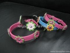 PU collar with flowers