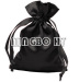 Black Satin Pouch For Gift Packing