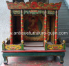 wooden niche for statue of buddha