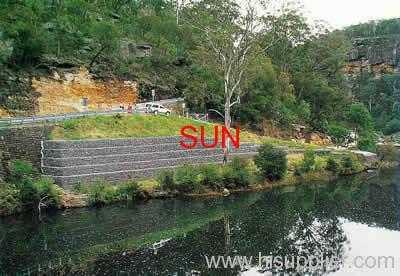 Sun gabion wall