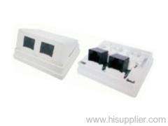 RJ45 CAT5E UTP surface mount box