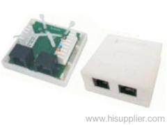 RJ45 module surface mount box