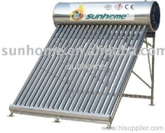 solar water  heaters with stainless steel