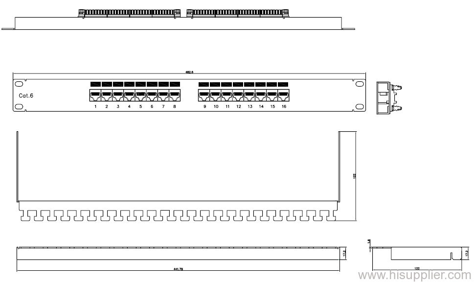 16 Port Cat 6 Patch Panel From China Manufacturer