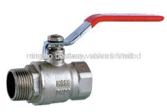 2 brass ball valves