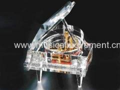 Piano Crystal Music Box