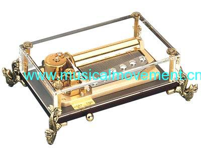 50 NOTE CLOCKWORK CRYSTAL MUSIC BOX