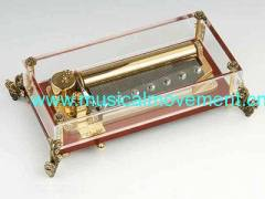 78 Note Deluxe Musical Clockwork Crystal Music Box Collectables