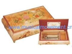 50 Note Deluxe Mainspring Musical Mechanism Wooden Music Box