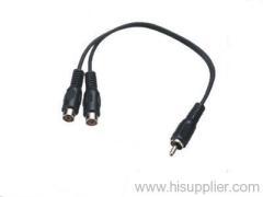 RCA Plug to 2 RCA Jack MONO Cable