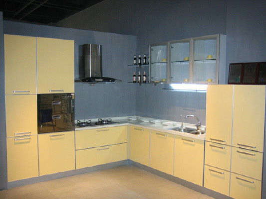 PVC Wrap series Kitchen Cabinet