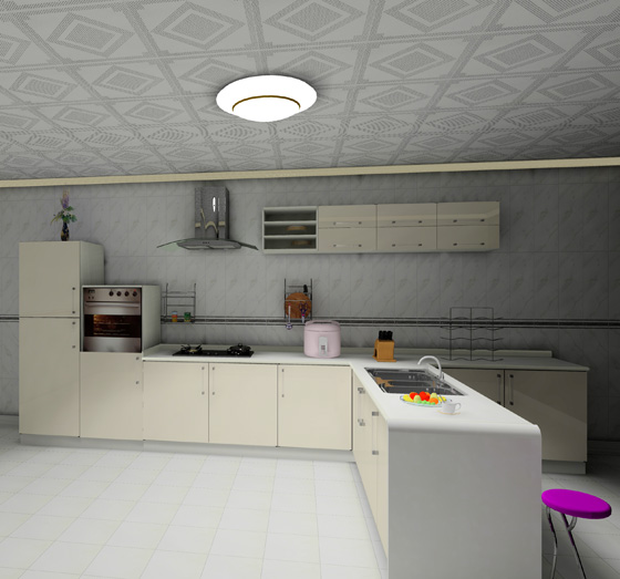 China PVC Kitchen Cabinets