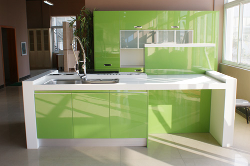 Melamine Cabinets Granite Countertop Painting Melamine