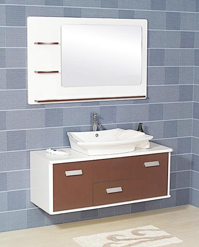 Coffee Lacquered Bathroom Vanity