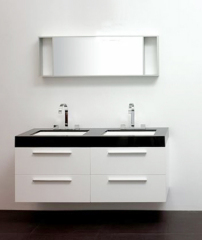 White Lacquered Bathroom Vanity