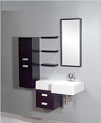 Black Bathroom Cabinet
