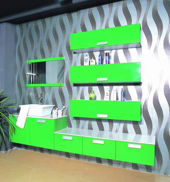 Green lacquered Bathroom Cabinet