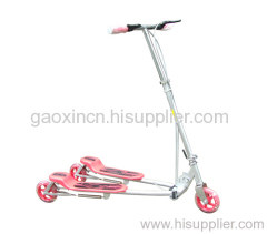 telescopic link foldable swing scooter