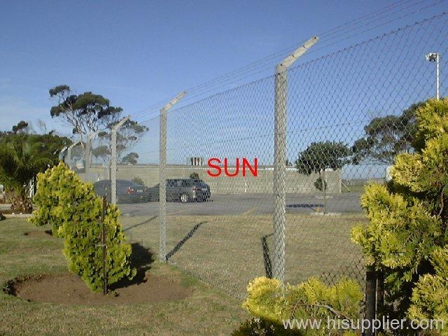 car park chain link fences